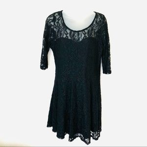 🌈Mimi Chica Black Lace Party Dress XL 3/4 Sleeve